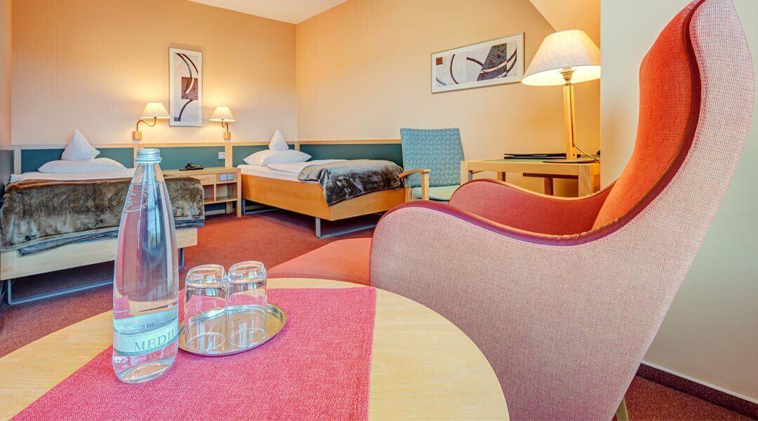 Ausstattung Patientenzimmer in der Caspar Heinrich Klinik