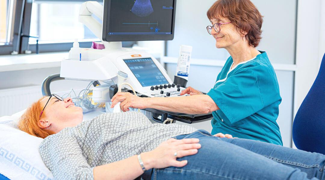Diagnostik mit Ultraschall in der Caspar Heinrich Klinik