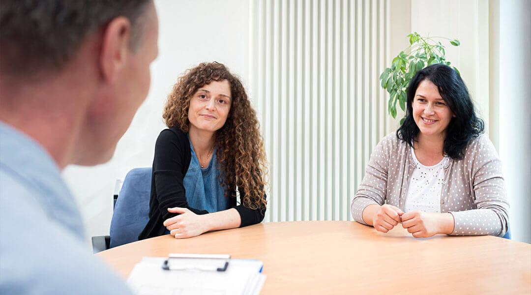 Gespräch bei dem Sozialdienst in der Caspar Heinrich Klinik
