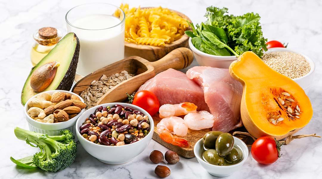 Lebensmittel bei der Ernärungsberatung in der Caspar Heinrich Klinik