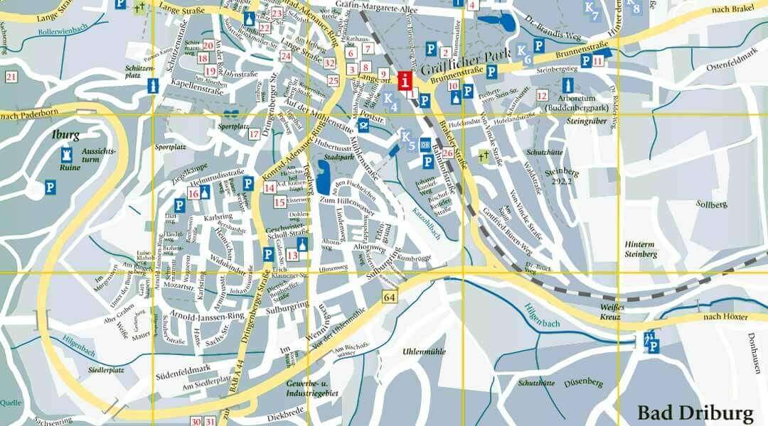 Marcus Klinik Stadtplan Bad Driburg
