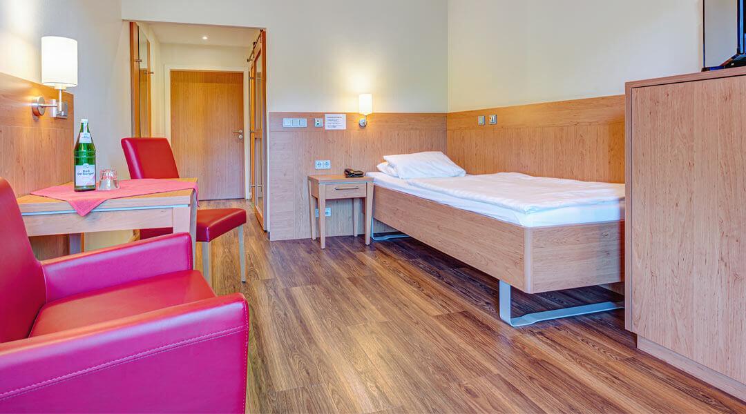 Unterbringung Zimmer in der Caspar Heinrich Klinik
